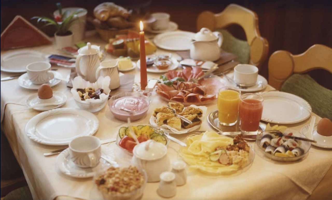 種類の多い朝食