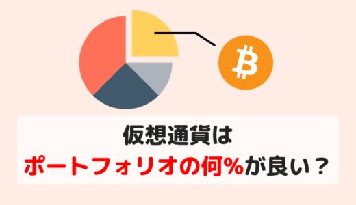 仮想通貨はポートフォリオの何%が良いのか? 過去のリスク・リターンから最適な割合を算出